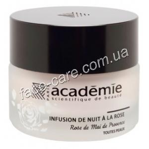 Ночной крем с экстрактом прованской розы Академи Infusion de nuit a la rose Academie